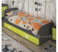 Детская кровать Немо с ящиками