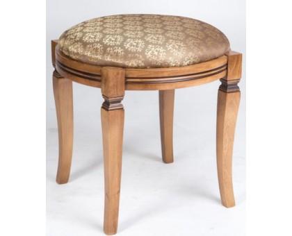 Банкетка круглая Орех светлый патина Микс-мебель