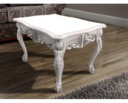 Деревянный журнальный столик Скарлет белый/слоновая кость