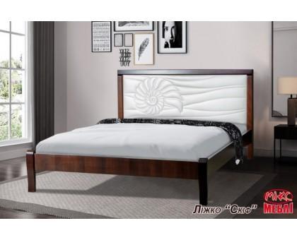 Двуспальная деревянная кровать Аква