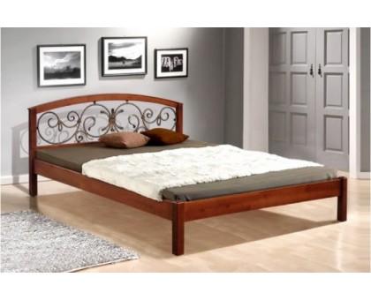 Деревянная кровать Джульетта с ковкой