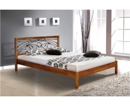 Деревянная кровать Карина с Ковкой