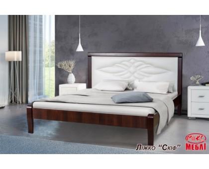 Двуспальная деревянная кровать Скиф