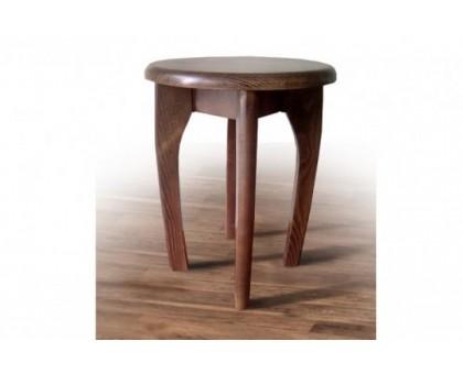 Деревянный кухонный табурет круглый