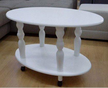 Деревянный журнальный столик Прадо белый