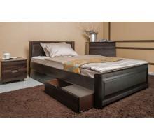 Кровать Марго с филенкой и ящиками Бук Олимп