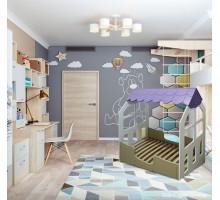 Деревянная кровать-домик Каллисто