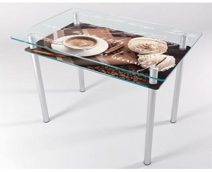 Кухонный стеклянный стол КТ-1