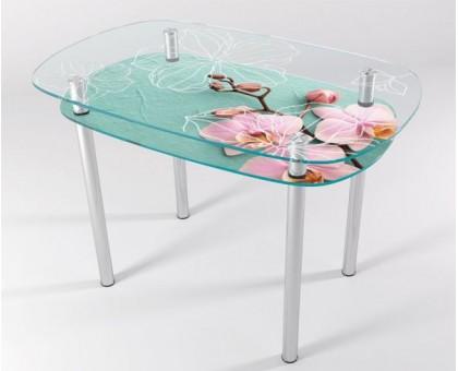 Кухонный стеклянный стол КТ-4