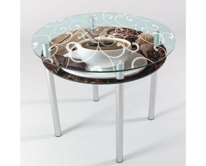 Кухонный стеклянный стол КТ-6