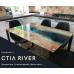 Кухонный стеклянный стол Ривер/RIVER