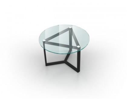 Стеклянный журнальный стол Раунд/ROUND
