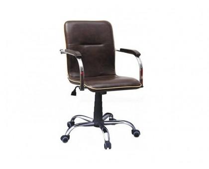 Компьютерное кресло Самба RC chrome кожзам