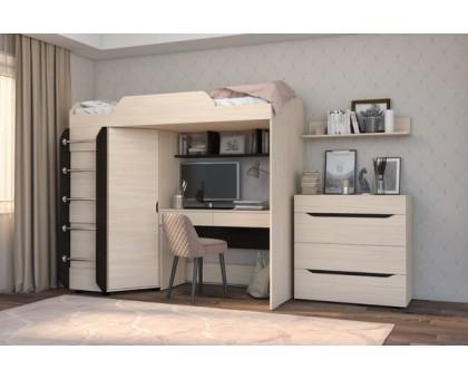 Кровать-чердак со столом Аякс