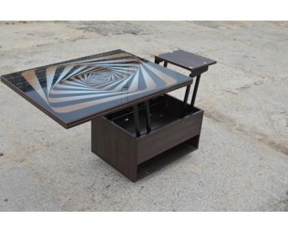 Стол-трансформер Агат со стеклом