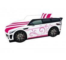 Детская кровать-машинка Премиум розовая
